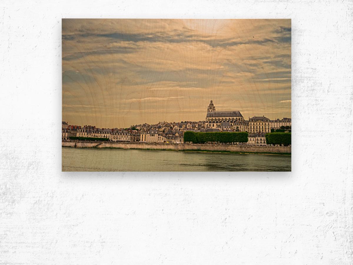 Cathedrale Saint Louis Across the Loire - Sunset France Wood print