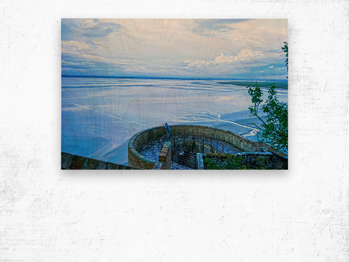 A Day at Mont Saint Michel 6 of 12 Wood print