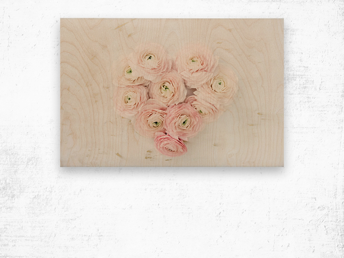 Daltana Spring Frill Wood print