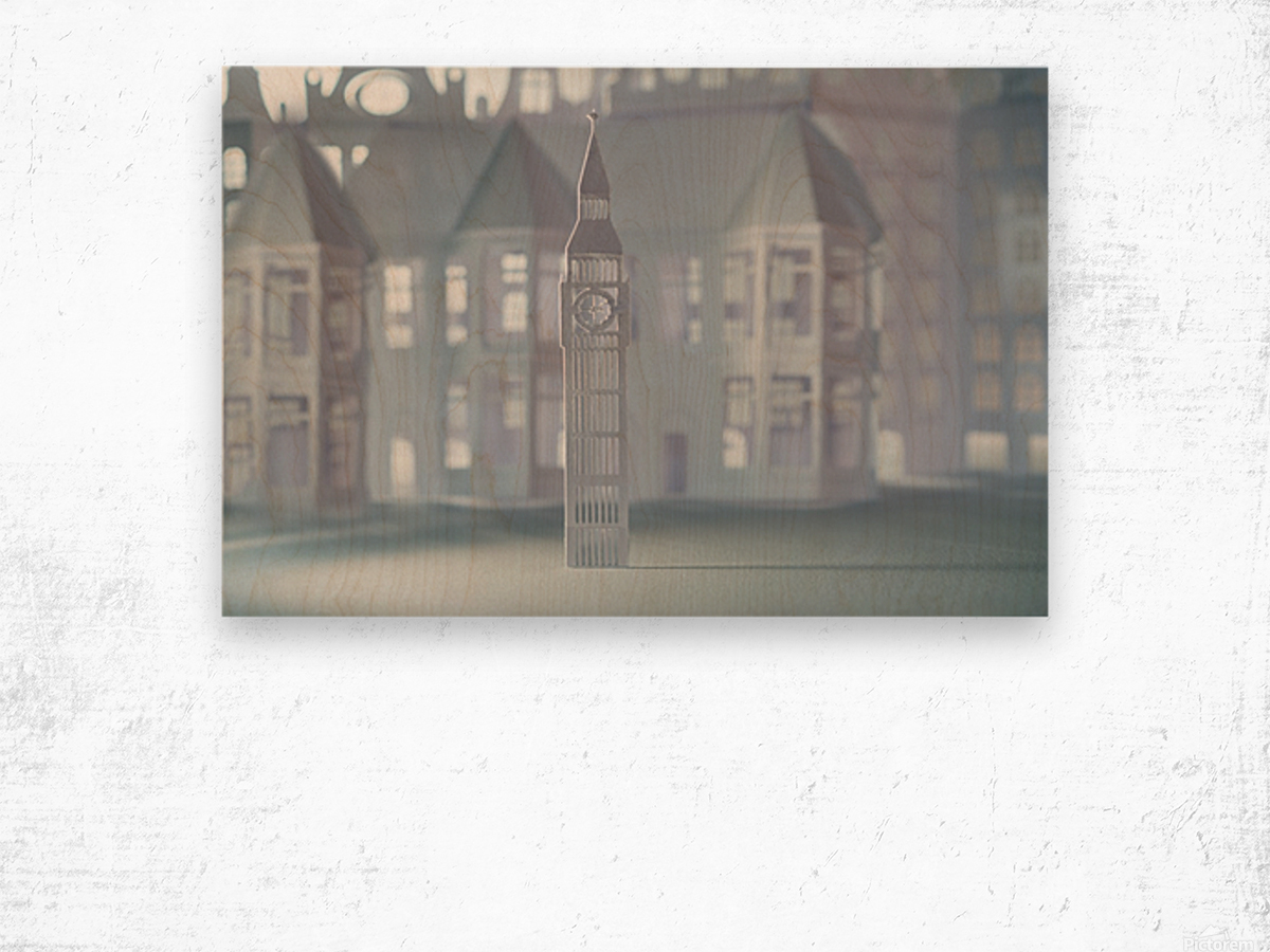 Daltana Pastel London Lindora Wood print