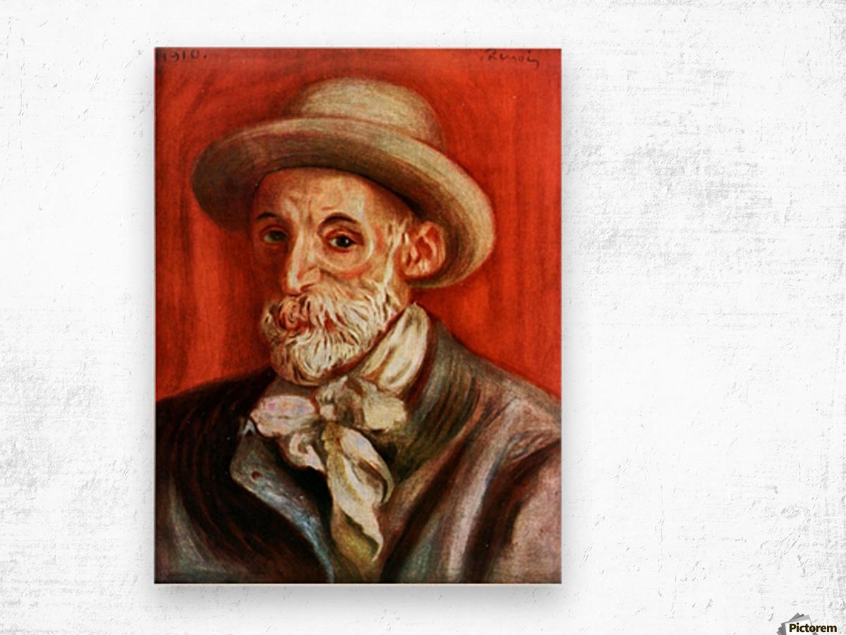 Self-Portrait 1910 by Renoir Wood print