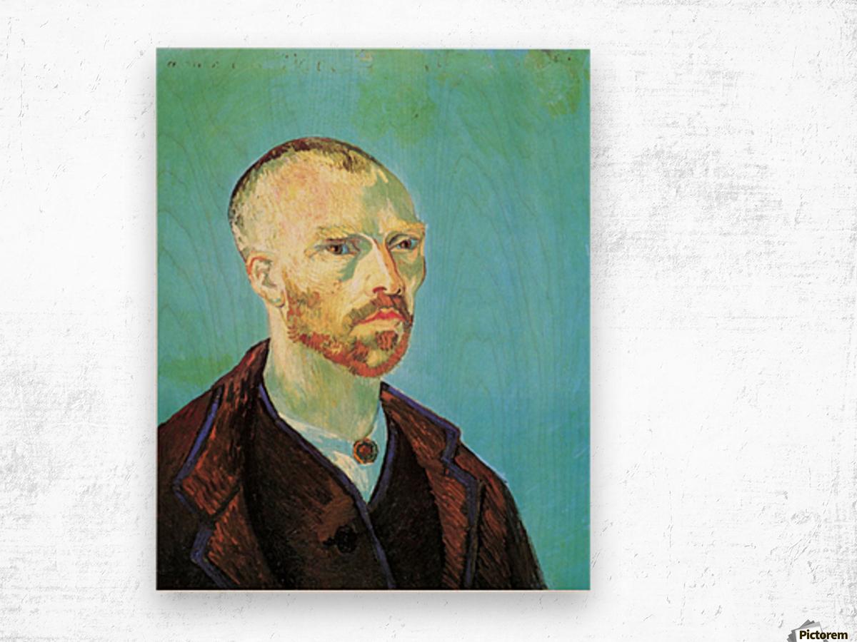 Self-Portrait Dedicated to Paul Gauguin Wood print