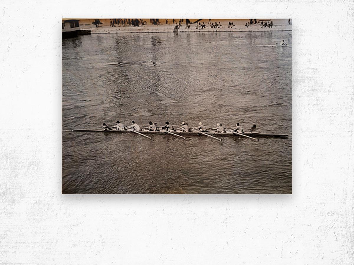 Paris Rowing 1975   2 Wood print