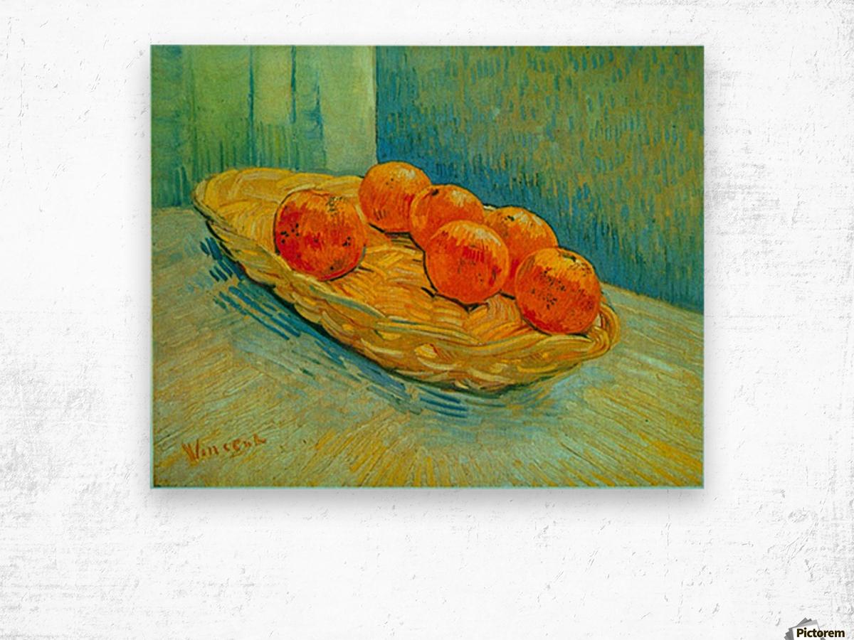Six Oranges by Van Gogh Wood print