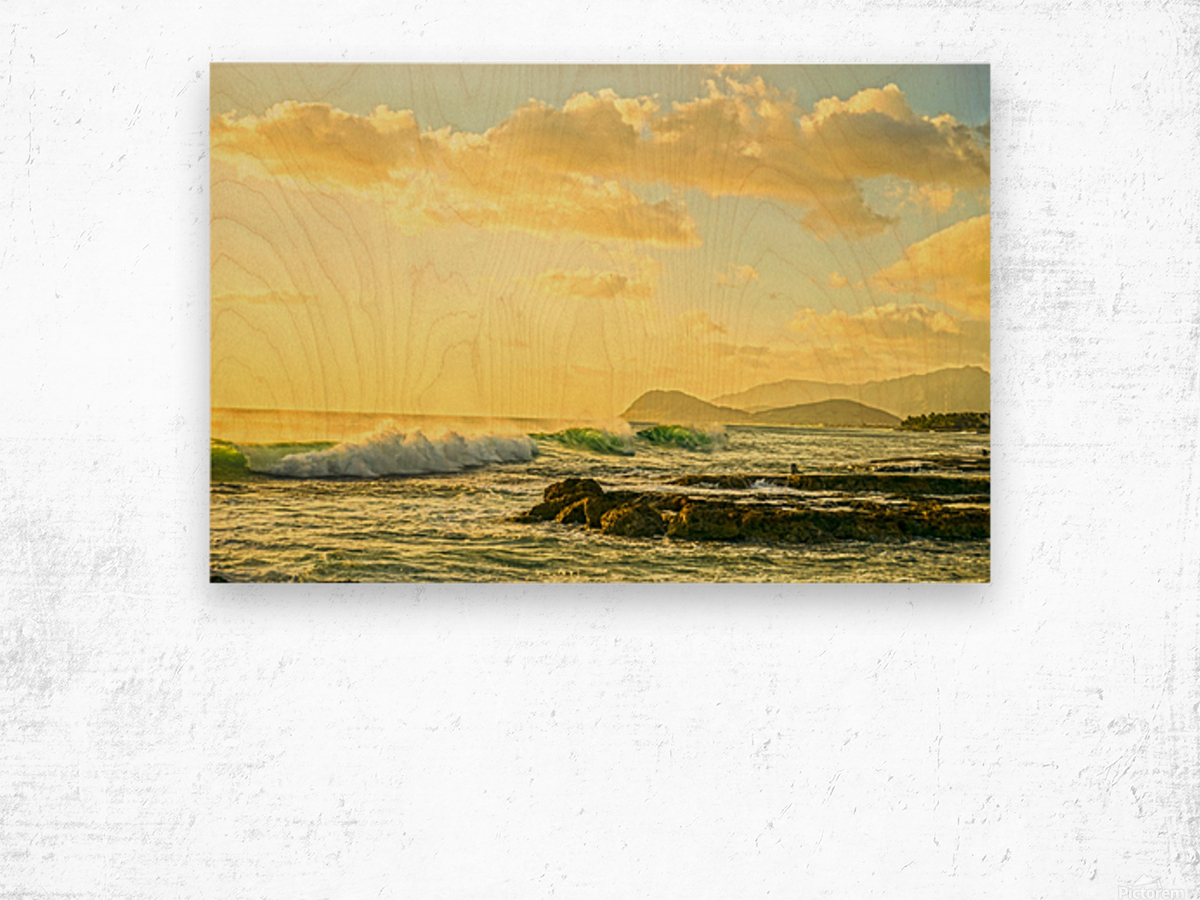 Perfect Day - Sunset Hawaiian Islands Wood print