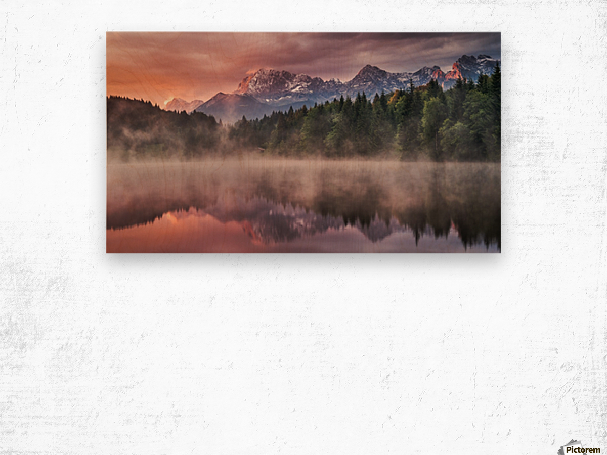 Sunrise at the Lake Wood print