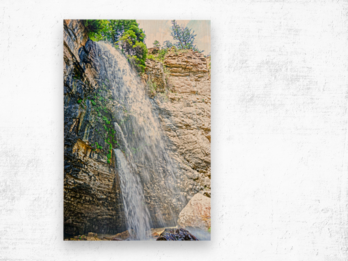 Rocky Mountain Rapids and Waterfalls 5 of 8 Wood print