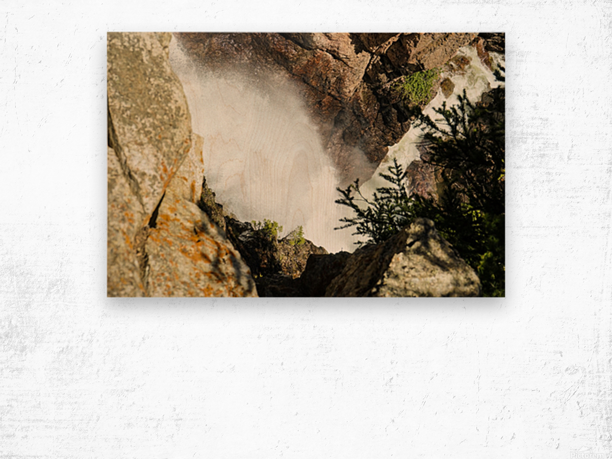 Rocky Mountain Rapids and Waterfalls 4 of 8 Wood print