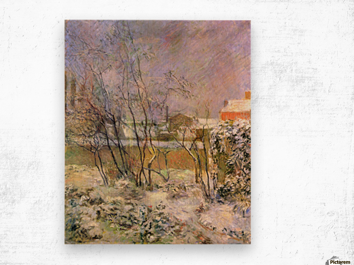 Snow in Rue Carcel by Gauguin Wood print