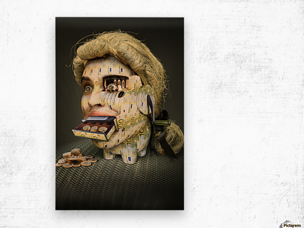The Miser Molier by DDiArte   Wood print