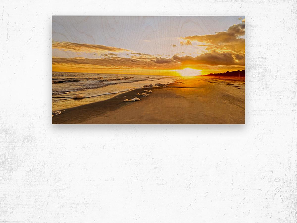 The Summer Sun Sets in the Carolinas Wood print