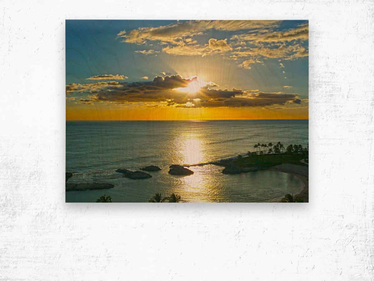 Island Dreamin - Hawaii Sunset Wood print