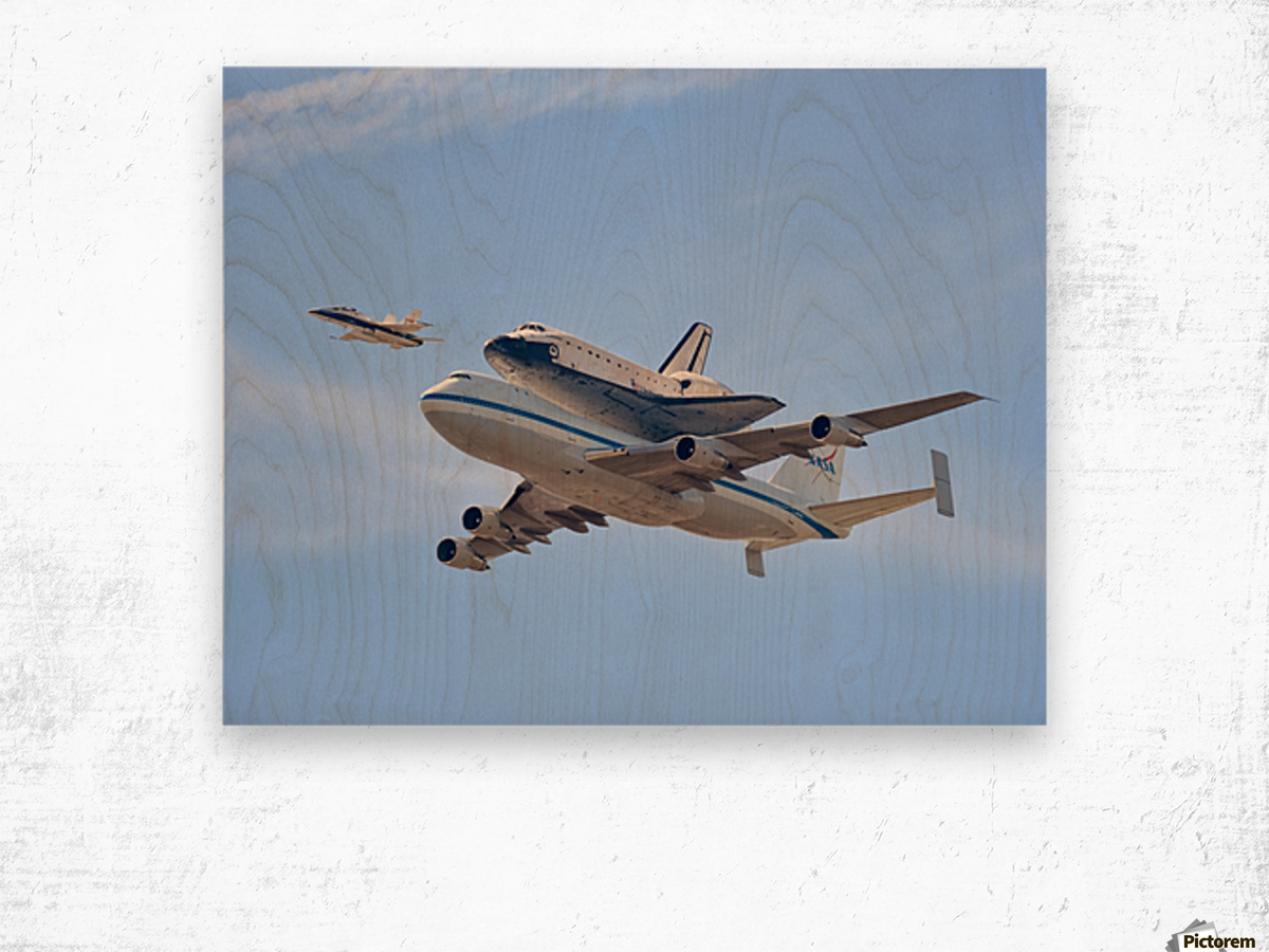 Flying into History by Andrew J. Lee Wood print