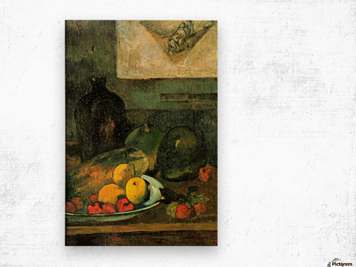 Still Life in Front of a Stich by Gauguin Wood print