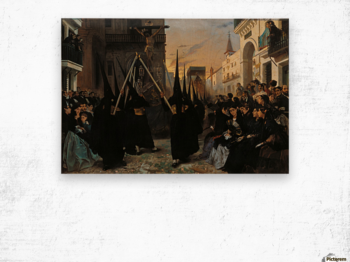 A Confraternity in Procession along Calle Genova Wood print