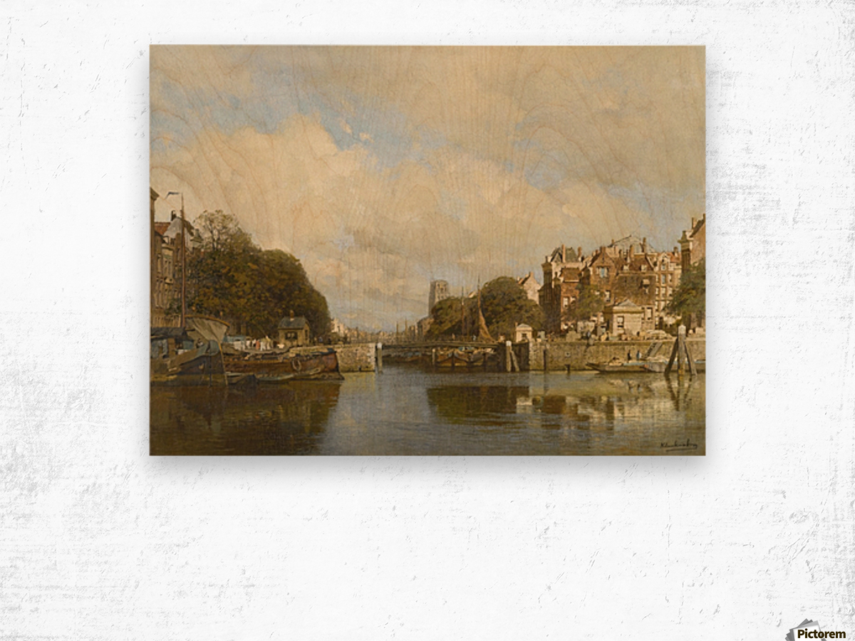 Rotterdam, with the Laurenskerk in the background Wood print