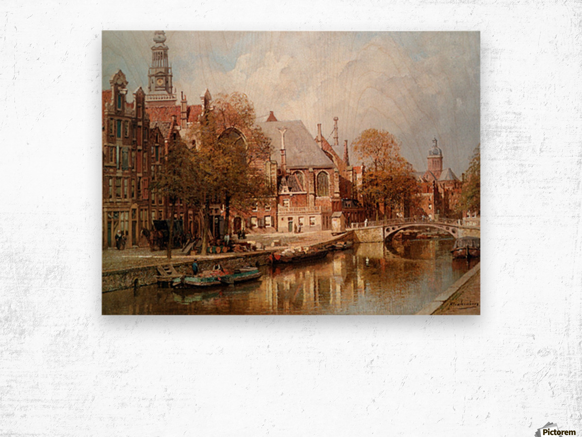The Oude Kerk and Saint Nicolaaskerk Wood print