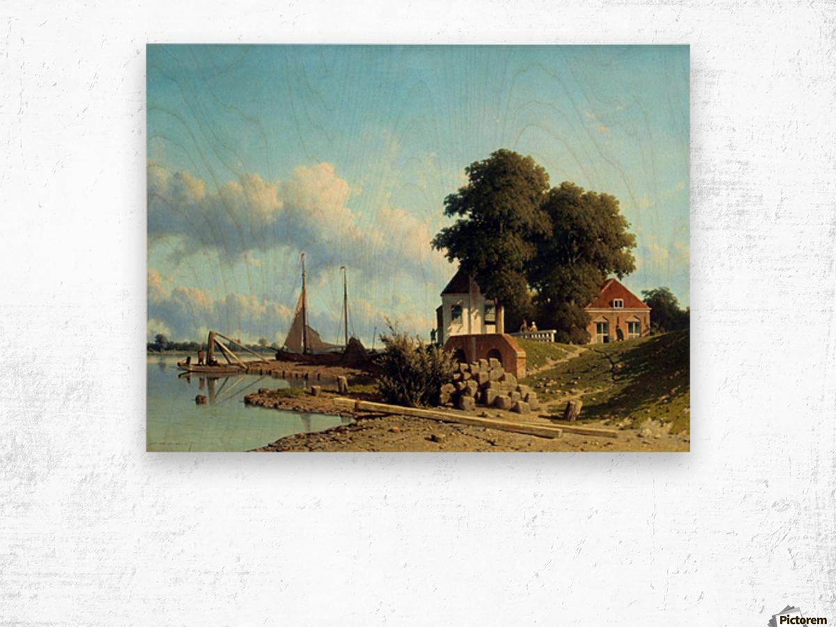 Aan de Lek bij Elshout Wood print