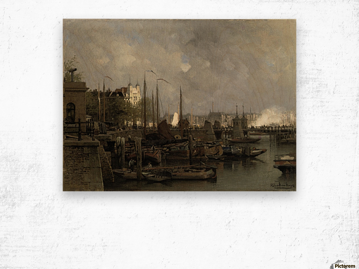 Oude haven with the Koningsbrug Wood print