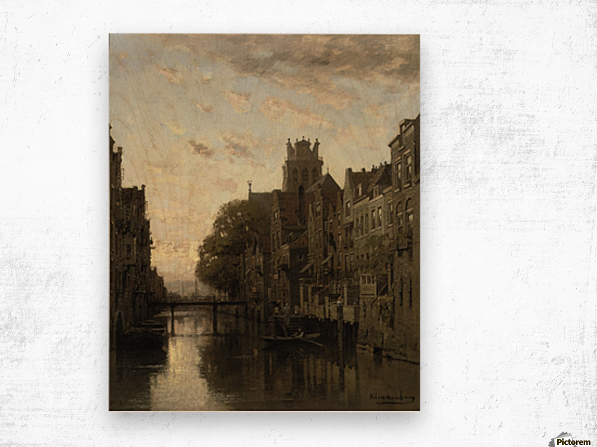 A View of the Voorstraathaven with the Grote Kerk Beyond, Dordrecht Wood print