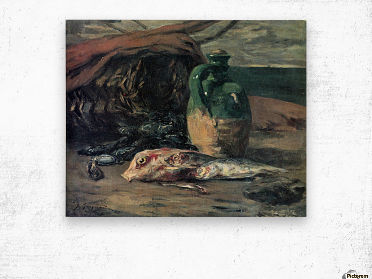 Still Life with Fish by Gauguin Wood print
