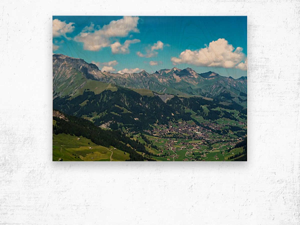 The Bernese Alps Switzerland Wood print