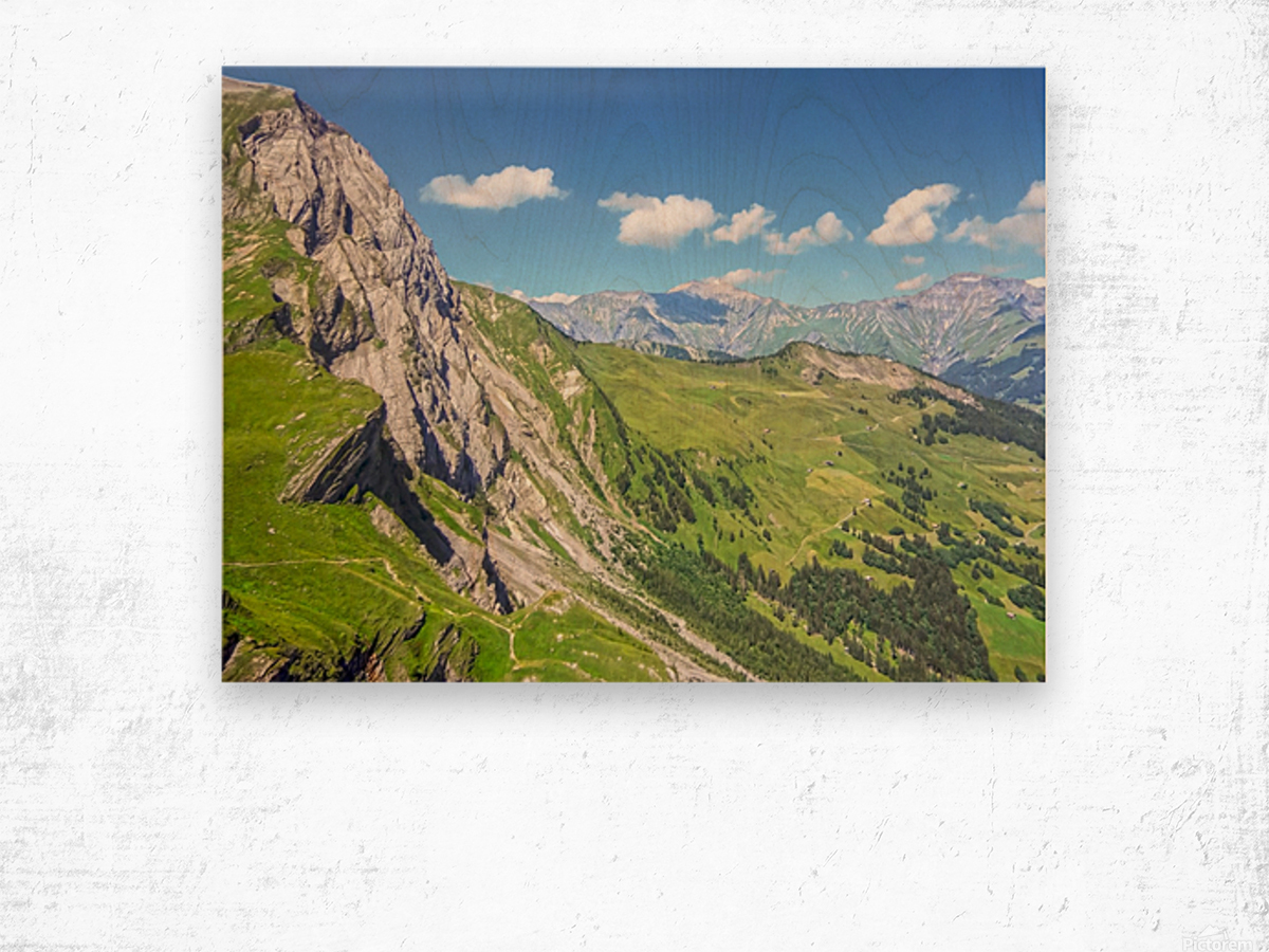 Deep in the Swiss Highlands Wood print
