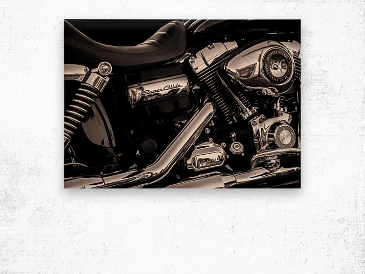Motorcycle Number 1 Wood print