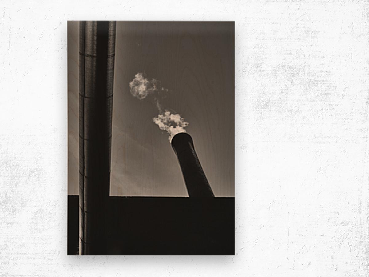 Smokestack Number Six Wood print
