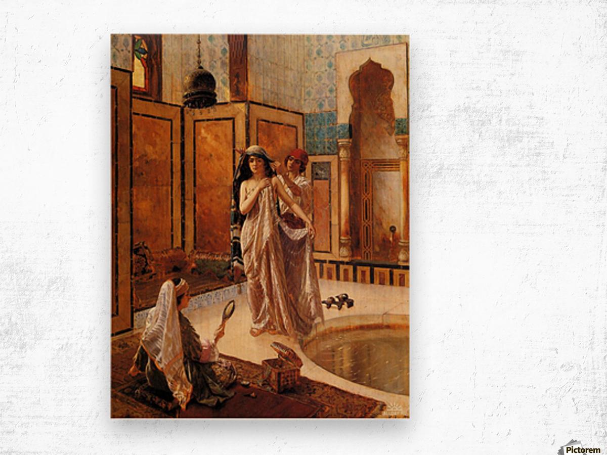 The harem bath Wood print