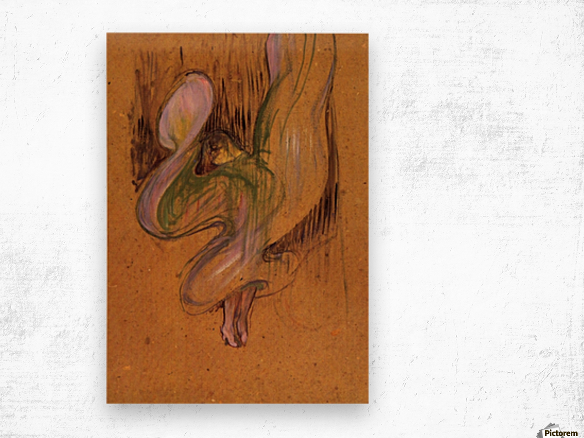 Study for Loie Fuller by Toulouse-Lautrec Wood print