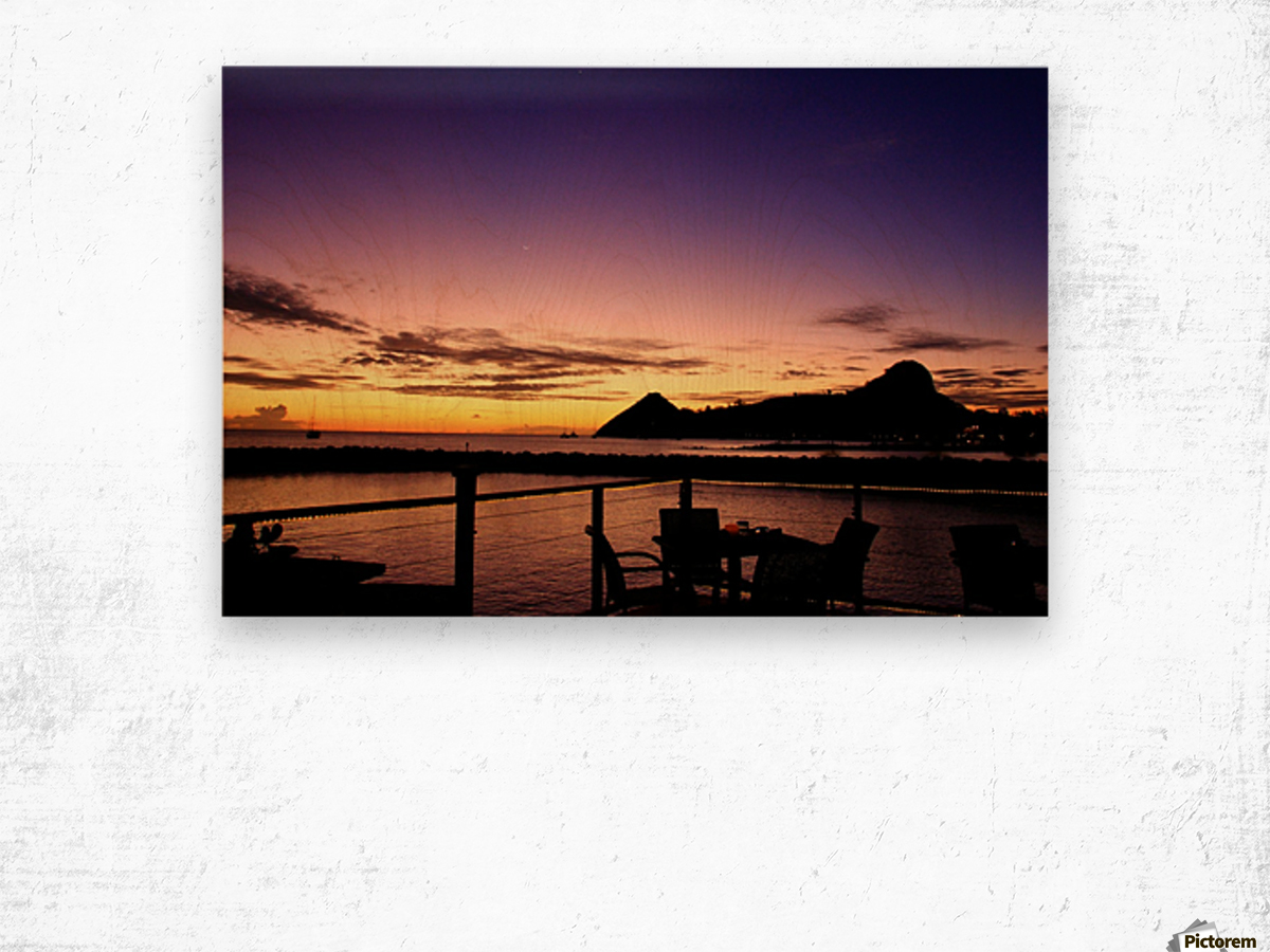 Sunset at The Landings Wood print