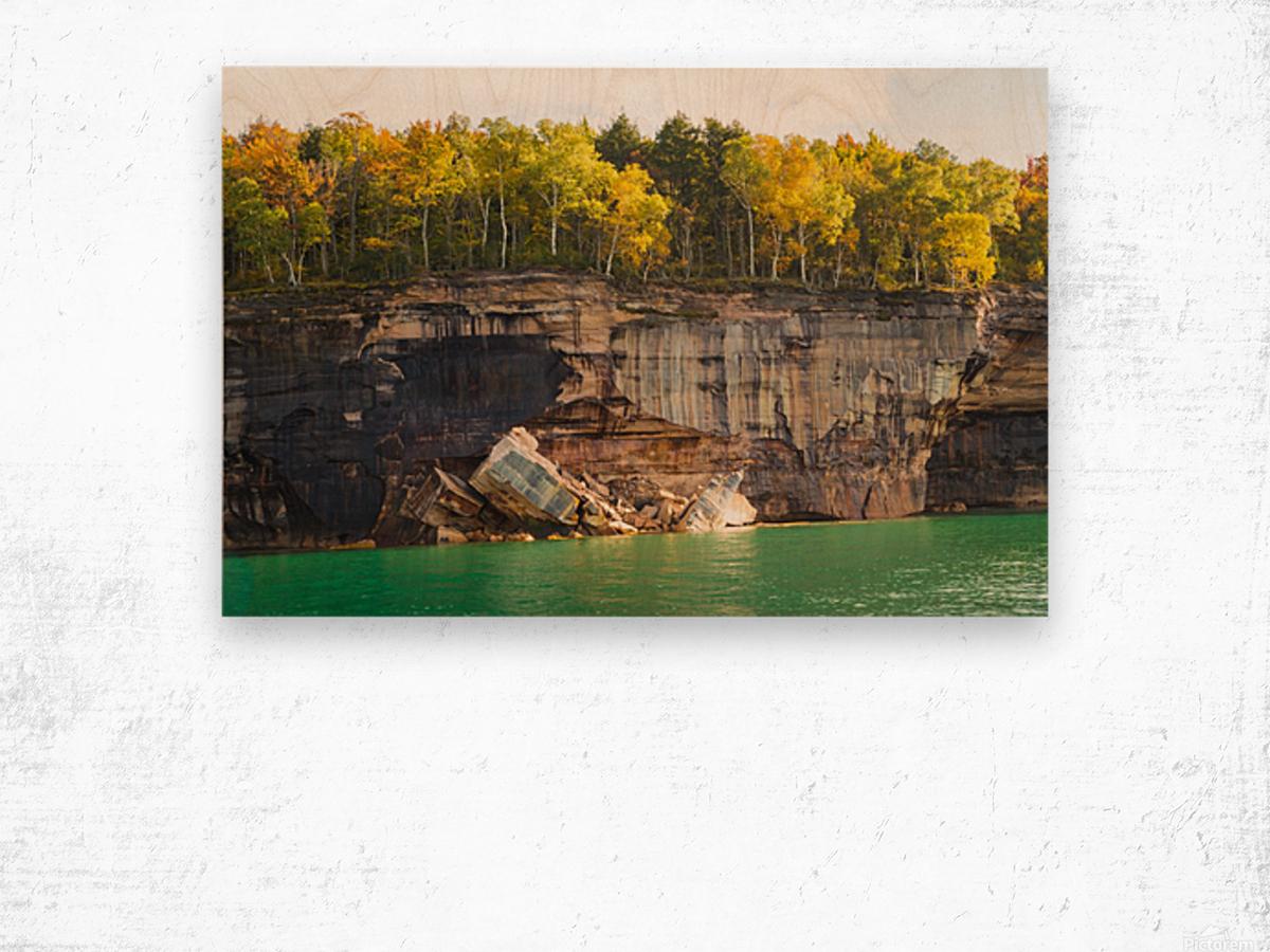Pictured Rocks ap 2503 Wood print