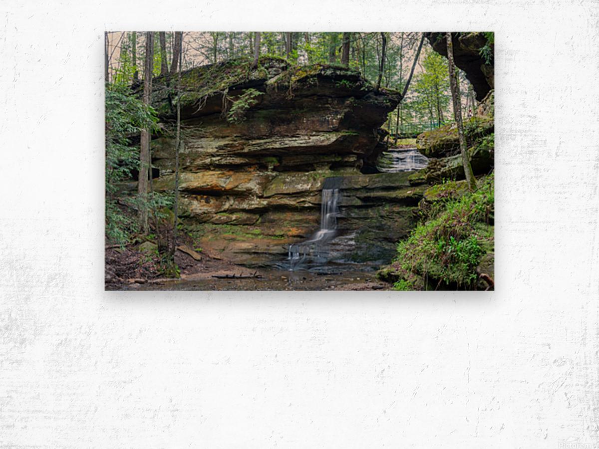 Lodge Falls apmi 1649 Wood print