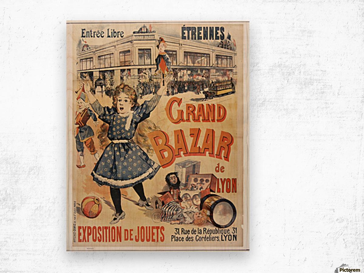 Grand Bazar Wood print
