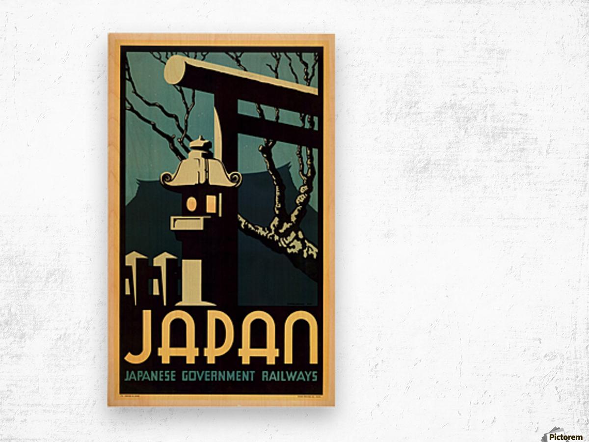 Japanese Government Railways Wood print