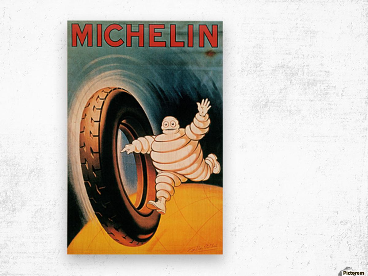 Michelin Poster Impression sur bois