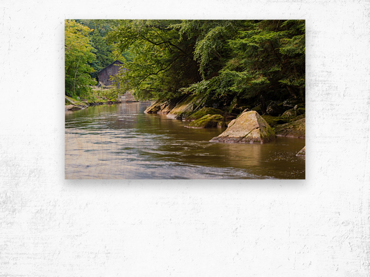 Slippery Rock Creek ap 1944 Wood print