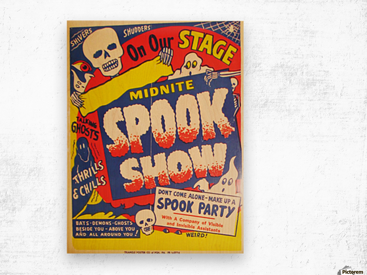 Spook Show Wood print