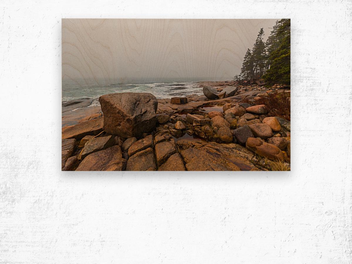Boulders ap 2254 Wood print
