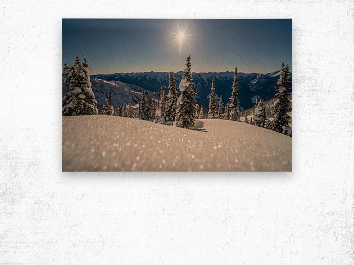 Mid winter blues Wood print