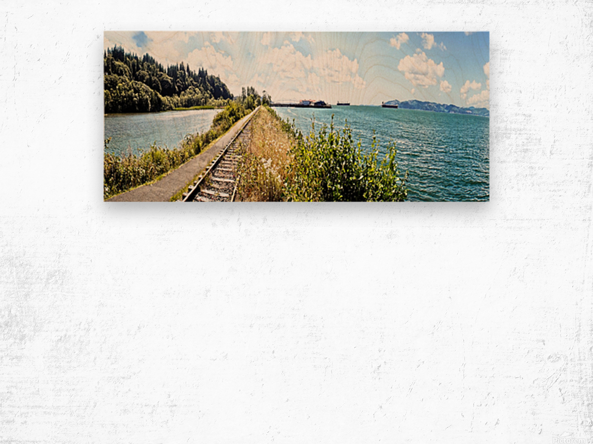 One Day in Astoria Wood print