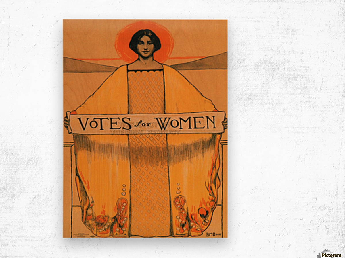 Votes for women Wood print