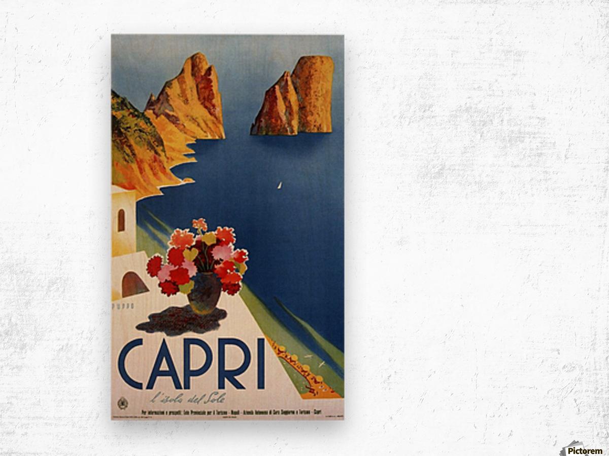 Vintage Capri Wood print