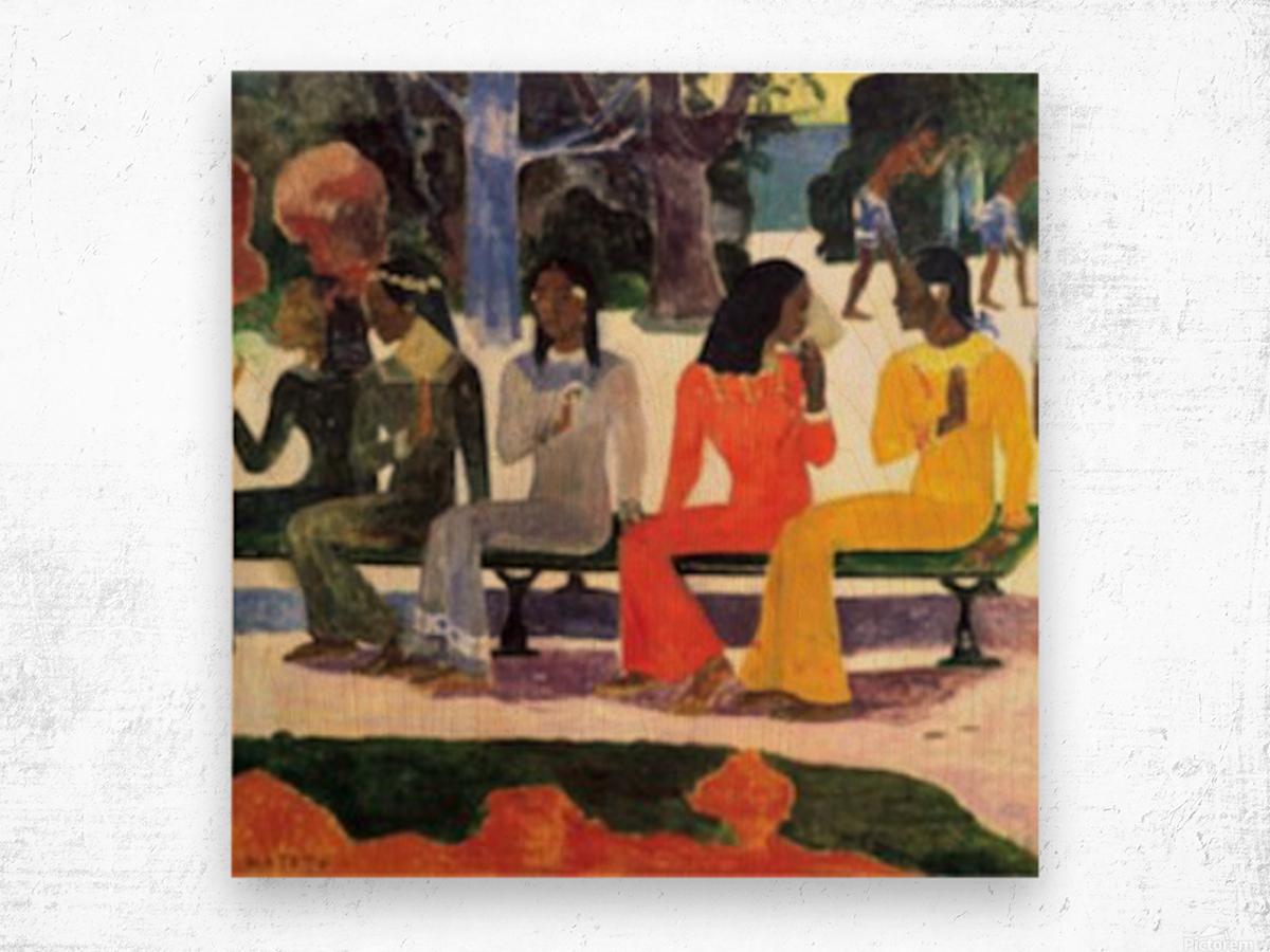 Ta Matete by Gauguin Wood print