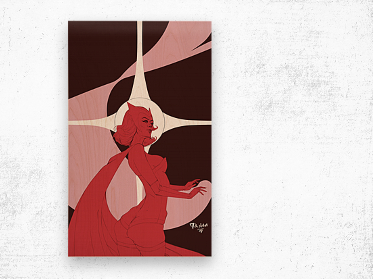 Scarlet Witch Flats Wood print