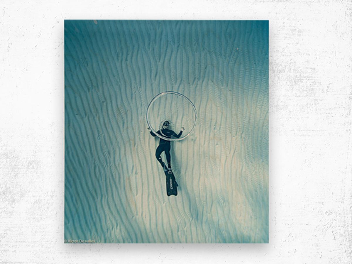 diver 3 Wood print