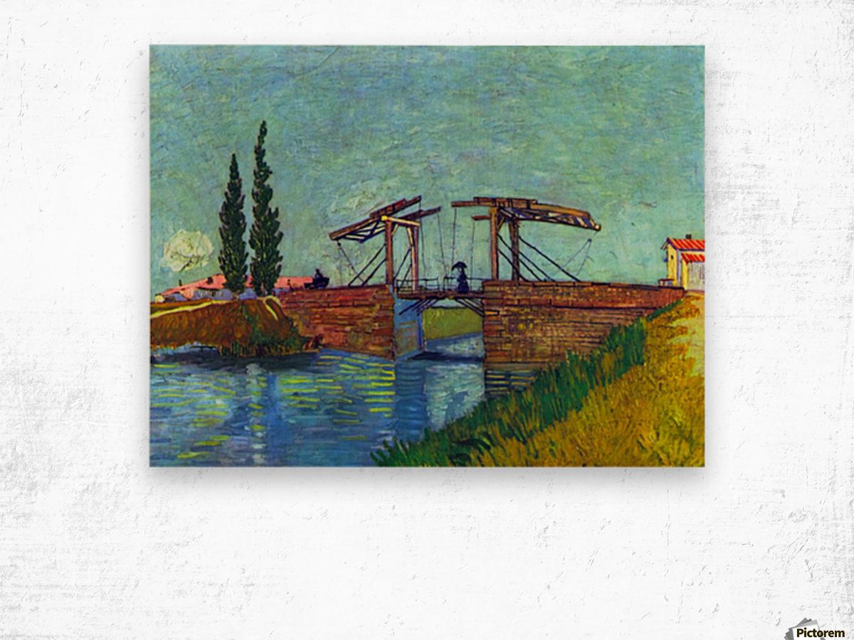 The Anglois Bridge at Arles (The drawbridge) by Van Gogh Wood print
