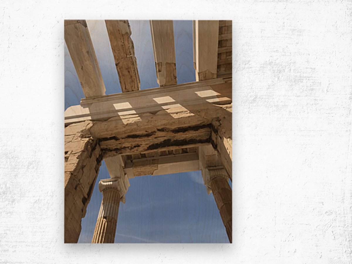 Acropolis of Athens Greece Wood print