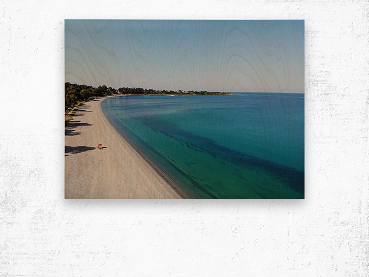 Greece coast near Lefkada Wood print